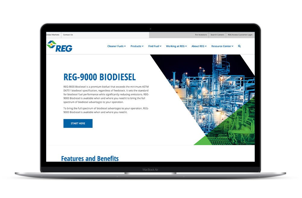 REG-9000 Biodiesel Screen Capture