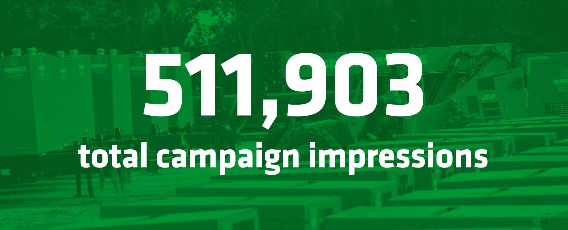 Sunbelt results 511,903 total campaign impressions