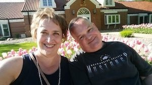 Bill and his wife enjoying the tulip festival in Pella, Iowa