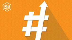 Graphic of a hashtag