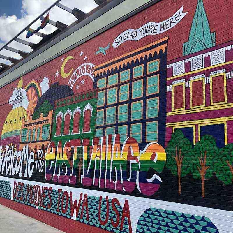 Des Moines East Village Mural