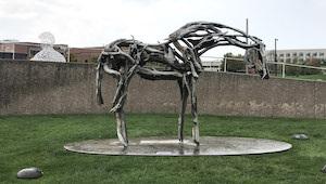 horse sculpture Pappajohn Sculpture Park