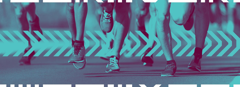 Runners feet hitting the ground