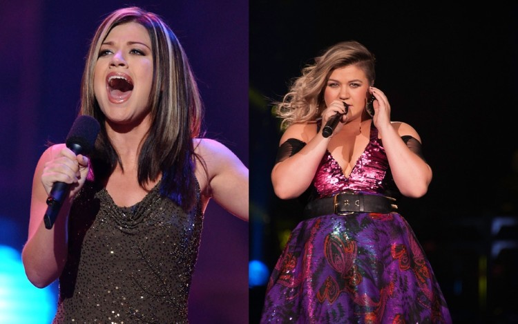 "Kelly Clarkson, 20, of Burleson, Texas, performs in a sing-off between two finalists for the title of ""American Idol,"" in Los Angeles, Tuesday, Sept. 3, 2002. The winner will be announced in the television show's finale on Wednesday, Sept. 4, after a phone-in vote, and rewarded with a RCA Records recording contract. (AP Photo/Lucy Nicholson)"