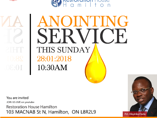 Special Anointing Service