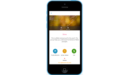 An app for your members to quickly access Church events and give offerings