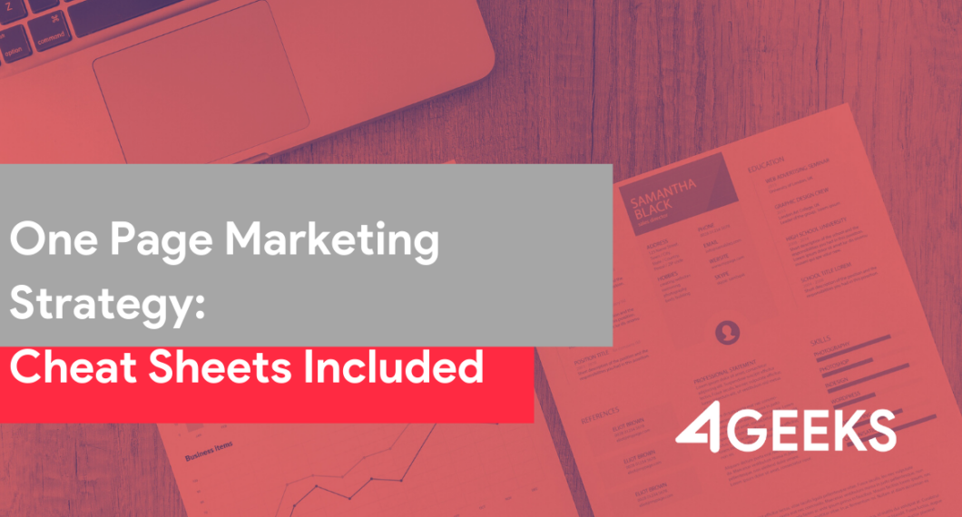 One Page Marketing Strategy_Cheat Sheets Included