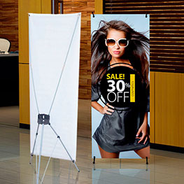 X-Frame Banner Stand with Vinyl Banner