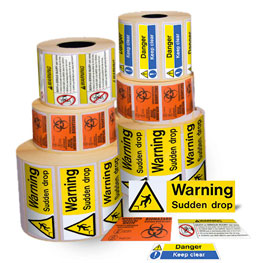 Roll Warning Labels