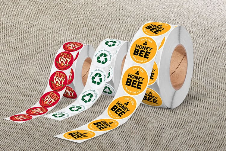 Roll Round Labels