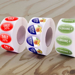Roll Oval Labels