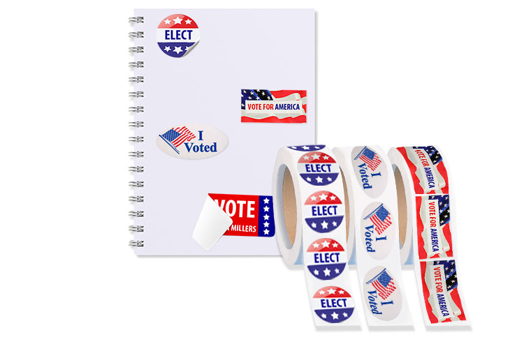 Roll Campaign And Political Stickers