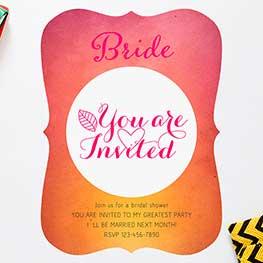 Flat Bridal Shower Invites