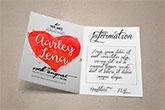 folded wedding invitations