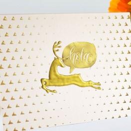 Velvet Greeting Cards with Raised Foil