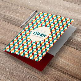 Velvet Pocket Folders