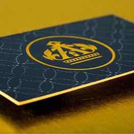 Ultra-Thick Silk Business Cards w/Spot UV