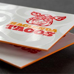 Ultra-Thick Velvet Business Cards w/Spot UV