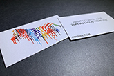 ultra thick metallic pearl business cards