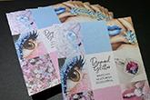 diamond glitter postcards