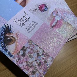 Glitter Postcards