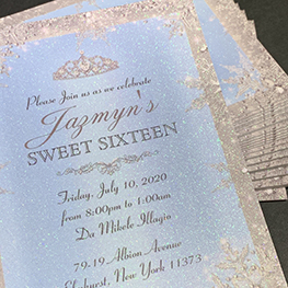 Ultra-Thick Glitter Invitations
