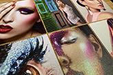 ultra thick diamond glitter postcards