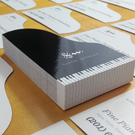 Laminated Die-Cut Business Cards