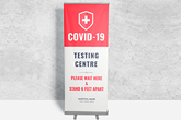 covid 19 retractable banner stands