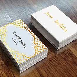 Metallic Foil Business Cards
