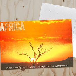 Metallic Postcards