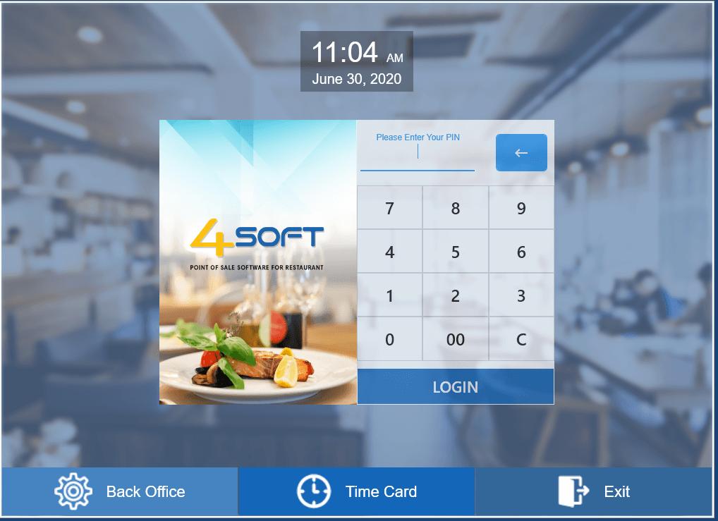 4Soft Login screen