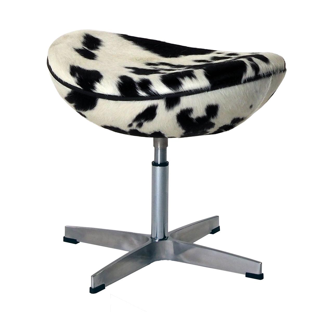 escabel Egg Chair Negro / Blanco