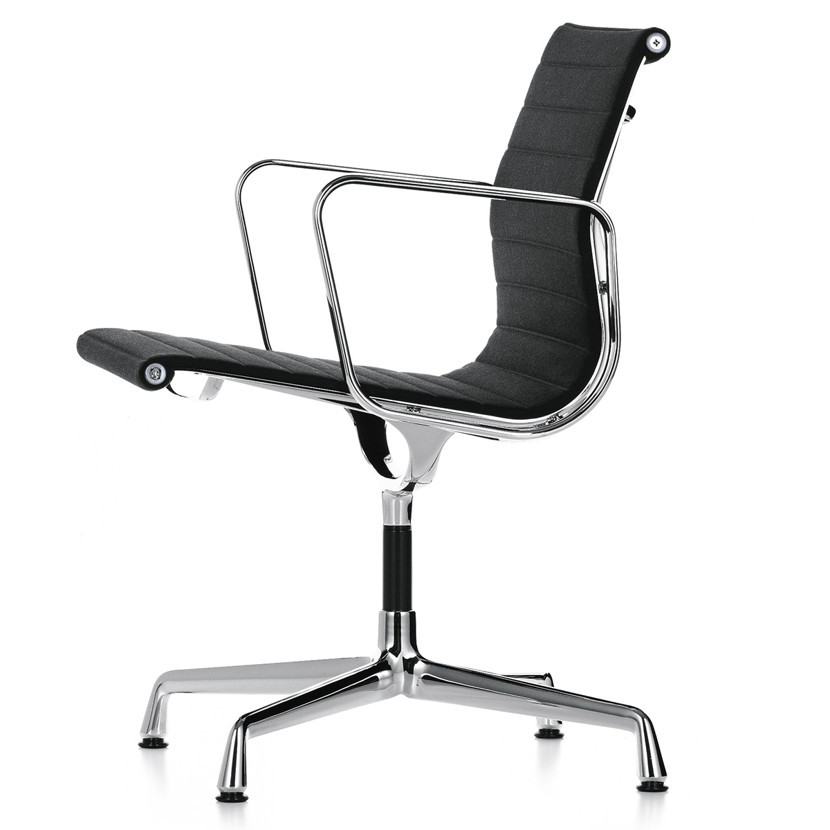 silla de conferencia EA108 Hopsack Hopsack (Tejida) Negro