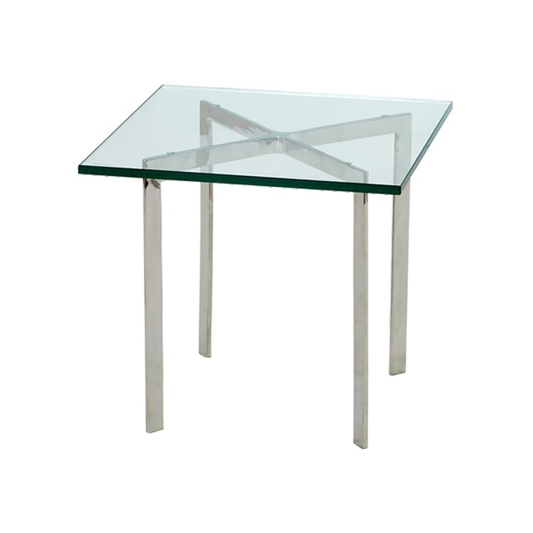 mesa auxiliar Barcelona Pavillion 50cm transparente