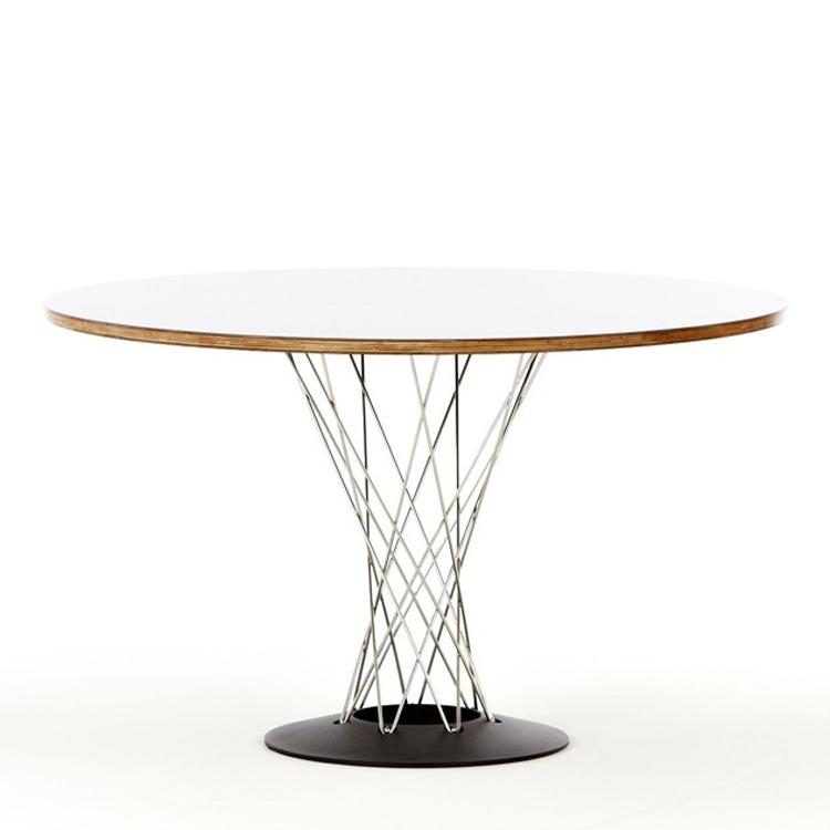 mesa de comedor mesa de ciclón Blanco 105cm