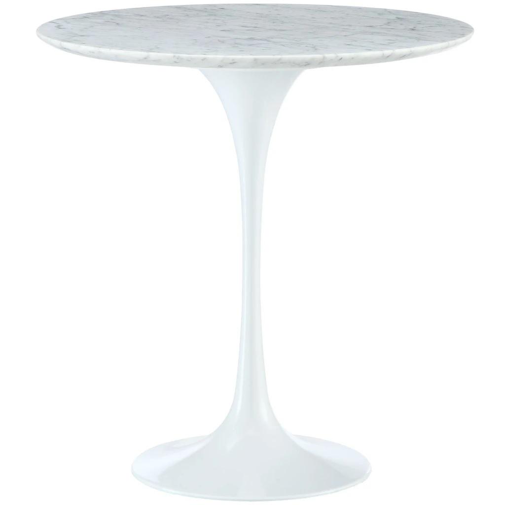 mesa auxiliar Tabla del tulipán Tapa de mármol blanco de mesa blanco de la pierna