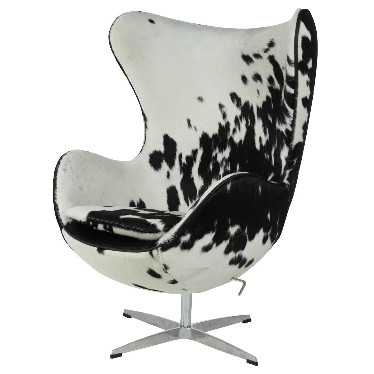 sillón Egg Chair Negro / Blanco