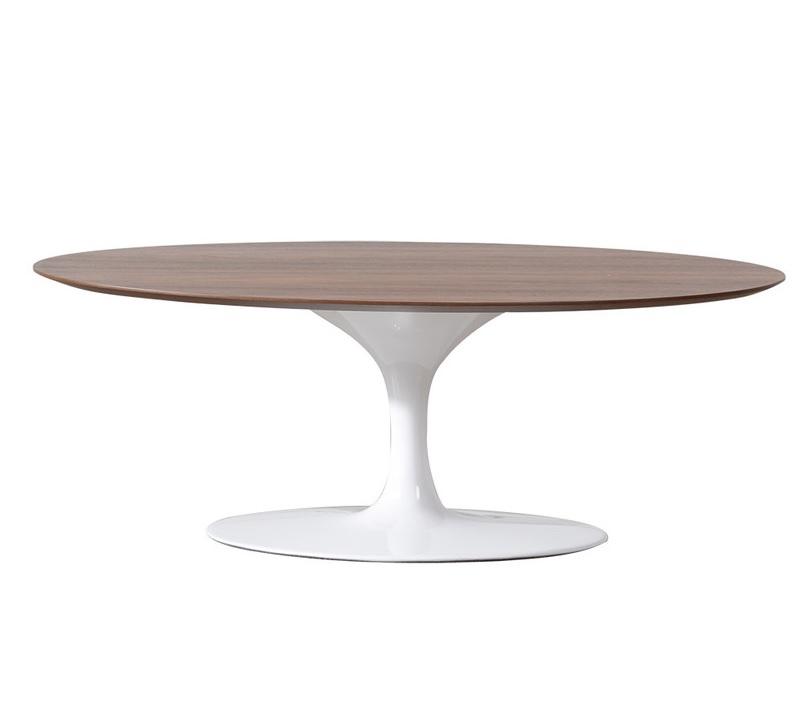 mesa auxiliar Tulip Side table 50cm pata de mesa de nogal blanco