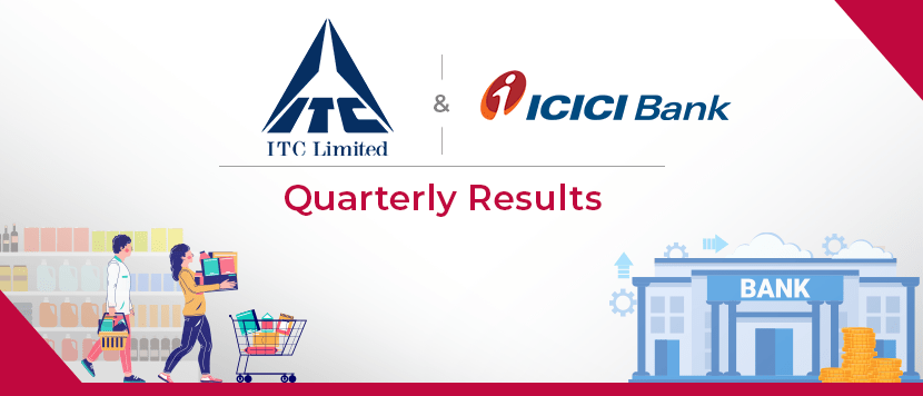 ITC and ICICI Bank Q1 results
