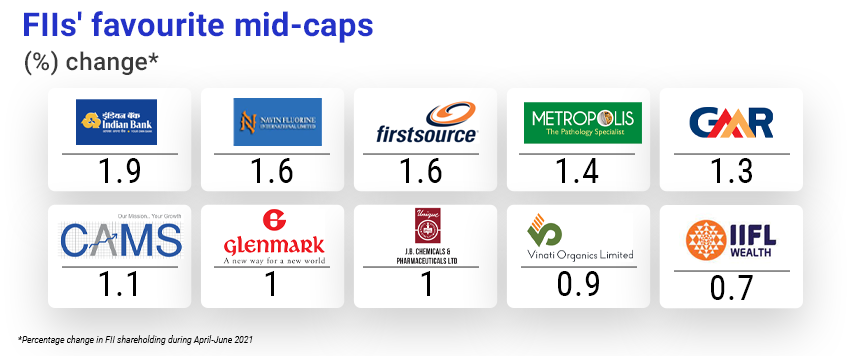 FII's most favourite midcap shares