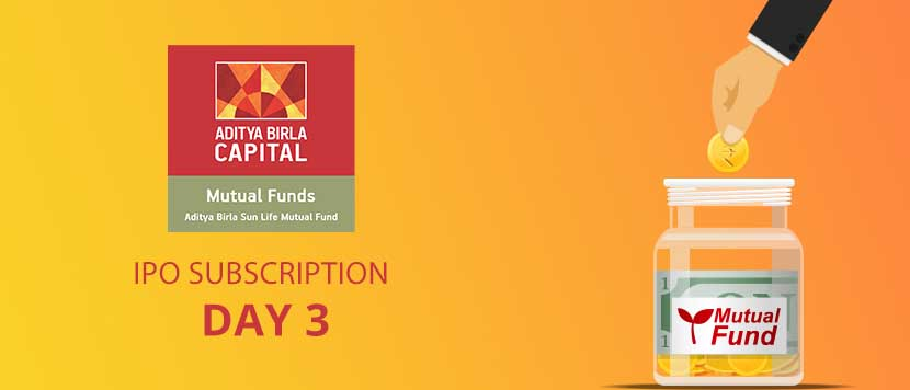 Aditya Birla Sun Life AMC IPO Subscription Day 3