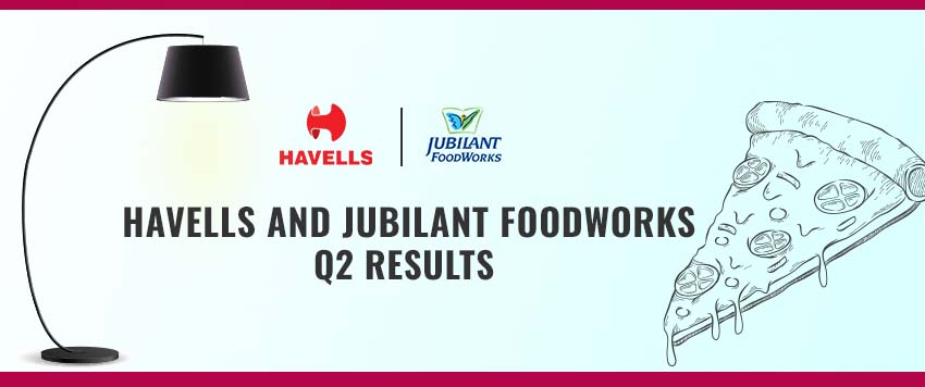 Havells India and Jubilant Foodworks Share Q2 Results