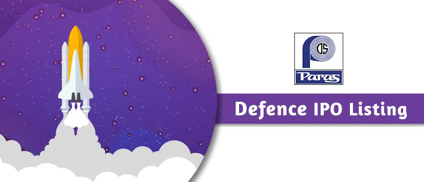 Paras Defence & Space Technologies IPO Lists at 168% Premium