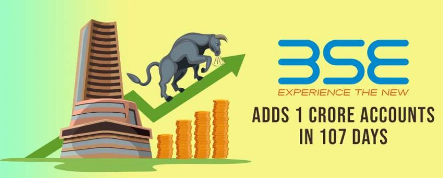 BSE Adds a Record 1 Crore Investor Accounts in 107 Days