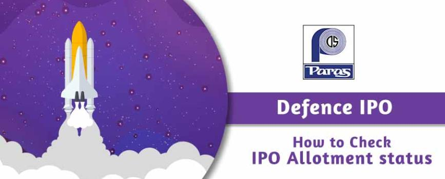 How to Check Allotment Status of Paras Defence & Space Technologies IPO