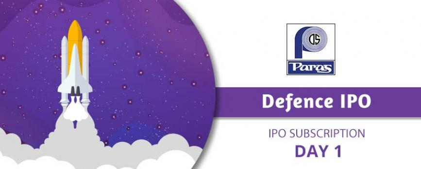 Paras Defence IPO subscription Day 1