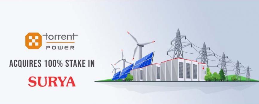 Torrent Power acquires 100% stake in Surya Vidyut