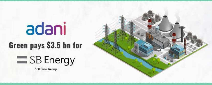 Adani Pays $3.50 Billion for 100% Stake in SB Energy Holdings
