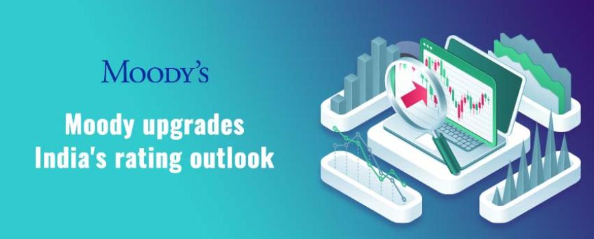"""Moody's Upgrades India's Rating Outlook to """"Stable"""""""